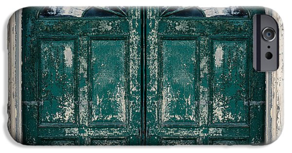 Gild iPhone Cases - Behind the Green Door iPhone Case by Edward Fielding