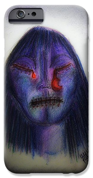 Crying Drawings iPhone Cases - Cry Me A Moon iPhone Case by Mimulux patricia no