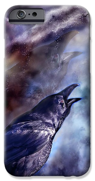 Cry Of The Raven iPhone Case by Carol Cavalaris