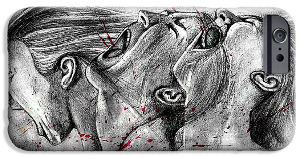 Crying Drawings iPhone Cases - Cry Out iPhone Case by Rishabh Ranjan