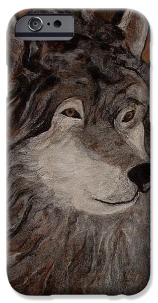 Needle Tapestries - Textiles iPhone Cases - Cry Wolf iPhone Case by Bonnie Nash
