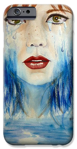 Torn iPhone Cases - Crying a River iPhone Case by Michal Madison