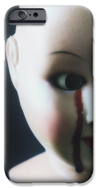 crying blood iPhone Case by Joana Kruse