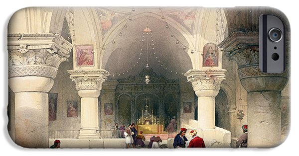Sepulchre Drawings iPhone Cases - Crypt Of The Holy Sepulchre iPhone Case by David Roberts