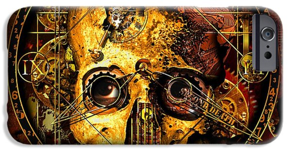 Clockwork iPhone Cases - Cryptic Time Course  iPhone Case by Franziskus Pfleghart