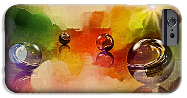 Michael Mixed Media iPhone Cases - Crystal Ball Afloat iPhone Case by M and L Creations