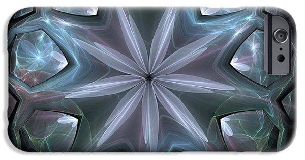 Si-fi Fractal iPhone Cases - Crystal Ball iPhone Case by Svetlana Nikolova