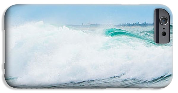 Florida House Photographs iPhone Cases - Crystal Blue Waves iPhone Case by Parker Cunningham