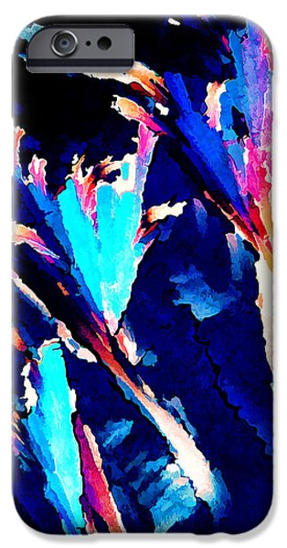 Modern Abstract iPhone Cases - Crystal C Abstract iPhone Case by Bill Caldwell -        ABeautifulSky Photography
