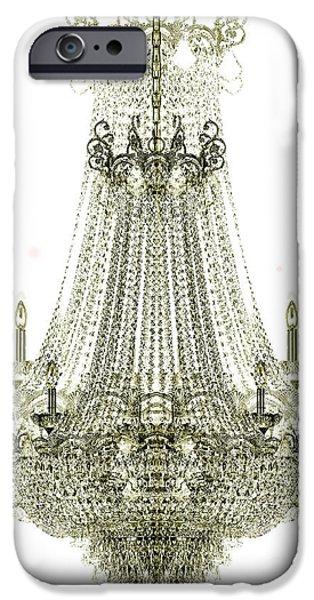 Chandelier iPhone Cases - Crystal Chandelier iPhone Case by Jon Neidert