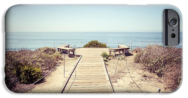 1960s iPhone Cases - Crystal Cove Overlook Retro Picture iPhone Case by Paul Velgos