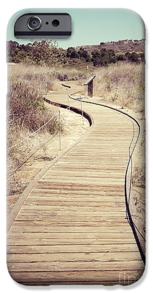 1960s iPhone Cases - Crystal Cove Wooden Walkway Vintage Photo iPhone Case by Paul Velgos