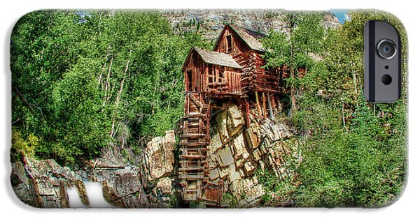 Grist Mill iPhone Cases - Crystal Mill Crystal Colorado iPhone Case by Ken Smith