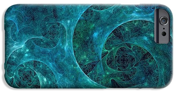 Phytoplankton iPhone Cases - Crystal Nebula-II iPhone Case by Doug Morgan