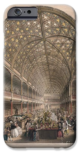 The Vault iPhone Cases - Crystal Palace Bazaar, London, 1850s iPhone Case by Library Of Congress