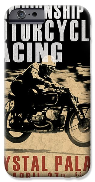 Motor Sport iPhone Cases - Crystal Palace Motorcycle Racing iPhone Case by Mark Rogan
