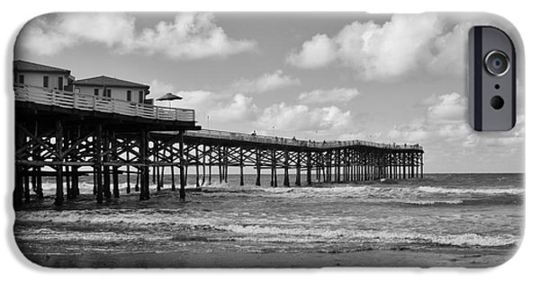 Crystal iPhone Cases - Crystal Pier in Pacific Beach iPhone Case by Ana V  Ramirez