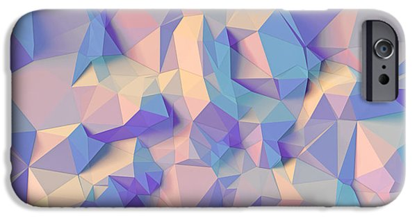 Geometric Style iPhone Cases - Crystal triangle iPhone Case by Vitaliy Gladkiy