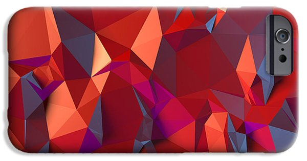 Graphic Design iPhone Cases - Crystal volcanic iPhone Case by Vitaliy Gladkiy