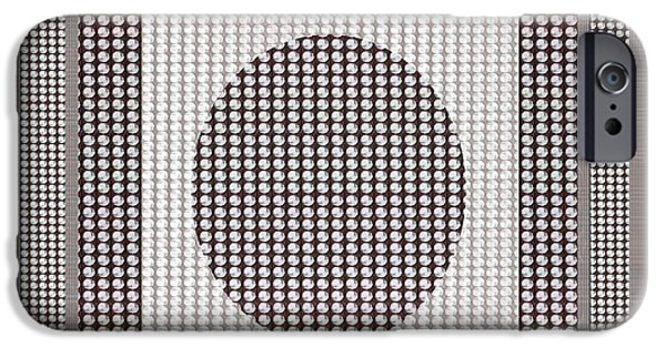Pleasure iPhone Cases - Crystal White and Gray Dots design pattern shade deco decoration iPhone Case by Navin Joshi