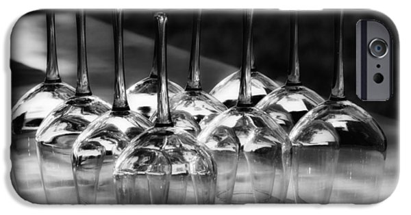Table Wine iPhone Cases - Crystal Wine Glasses iPhone Case by Mountain Dreams