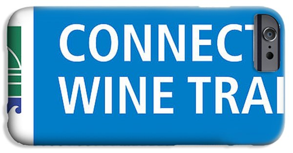 Red Wine iPhone Cases - CT Wine Trail Blue Right iPhone Case by John Turek