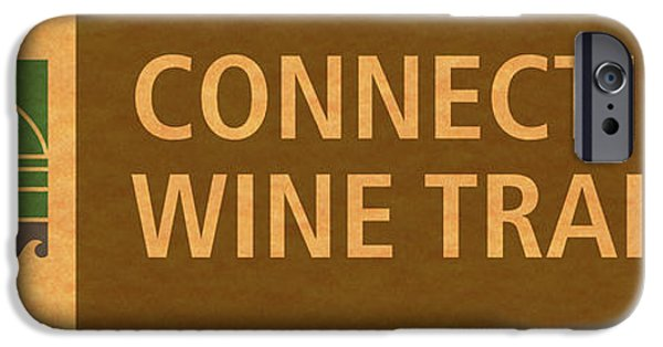 Red Wine iPhone Cases - CT Wine Trail Paper Right iPhone Case by John Turek