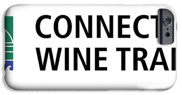 Red Wine iPhone Cases - CT Wine Trail White Right iPhone Case by John Turek