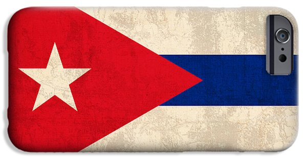 Cuba iPhone Cases - Cuba Flag Vintage Distressed Finish iPhone Case by Design Turnpike