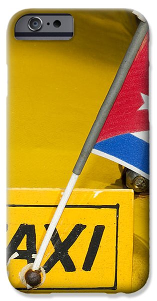 Cuba Taxi iPhone Case by Norman Pogson