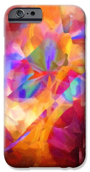 Abstract Digital Paintings iPhone Cases - Cubicscape Artisan iPhone Case by Lutz Baar
