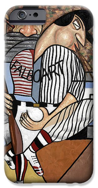 Cubist iPhone Cases - Cubist Baseball iPhone Case by Anthony Falbo