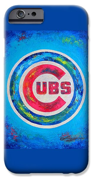 Chicago Cubs iPhone Cases - Chicago Cubs Baseball iPhone Case by Dan Haraga