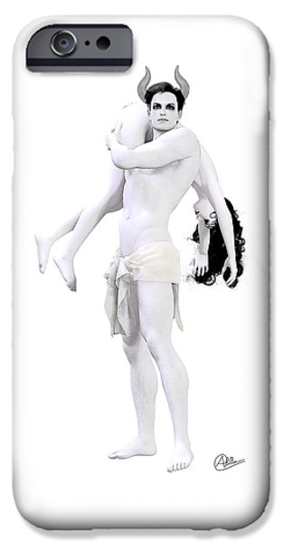 Humiliation iPhone Cases - Happy Cuckold iPhone Case by Joaquin Abella