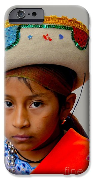 Christmas Eve iPhone Cases - Cuenca Kids 328 iPhone Case by Al Bourassa