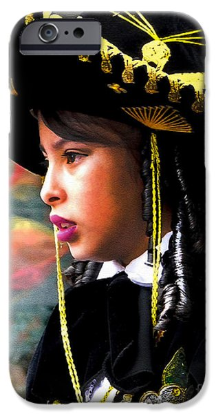 Christmas Eve iPhone Cases - Cuenca Kids 345 iPhone Case by Al Bourassa