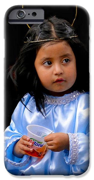 Christmas Eve iPhone Cases - Cuenca Kids 348 iPhone Case by Al Bourassa