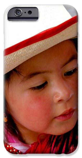 Christmas Eve iPhone Cases - Cuenca Kids 350 iPhone Case by Al Bourassa