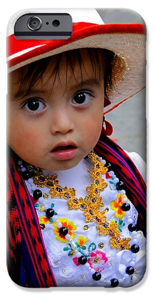 Christmas Eve iPhone Cases - Cuenca Kids 391 iPhone Case by Al Bourassa