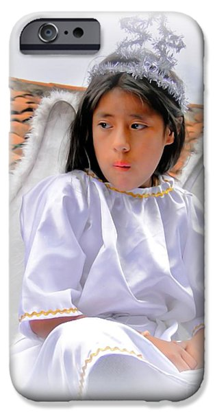 Christmas Eve iPhone Cases - Cuenca Kids 402 iPhone Case by Al Bourassa