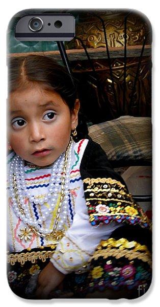 Innocence iPhone Cases - Cuenca Kids 431 iPhone Case by Al Bourassa