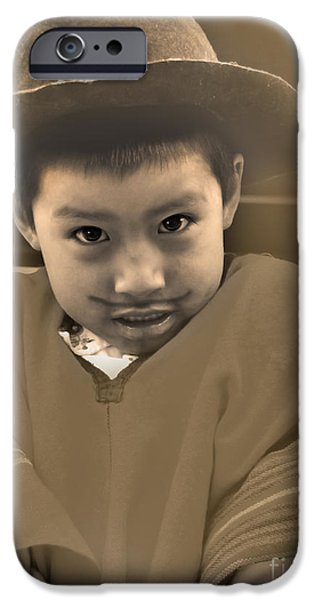 Christmas Eve iPhone Cases - Cuenca Kids 444 iPhone Case by Al Bourassa