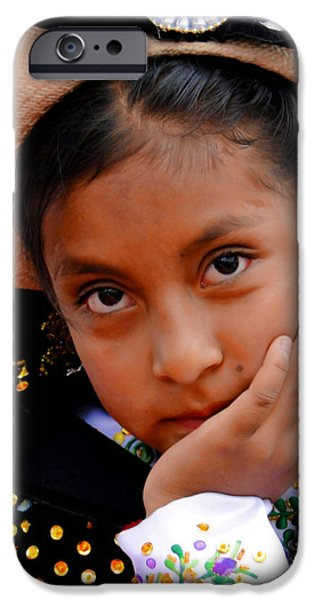 Christmas Eve iPhone Cases - Cuenca Kids 460 iPhone Case by Al Bourassa