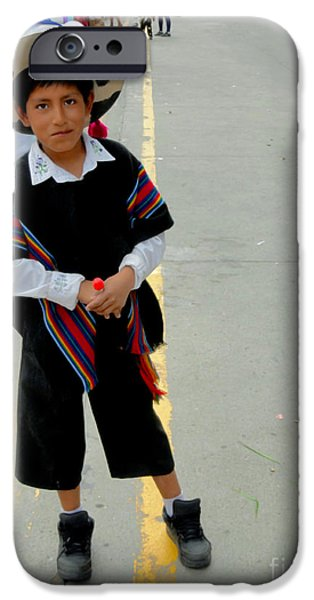 Christmas Eve iPhone Cases - Cuenca Kids 533 iPhone Case by Al Bourassa