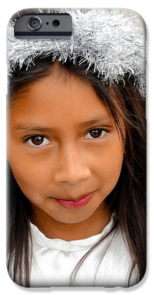 Christmas Eve iPhone Cases - Cuenca Kids 542 iPhone Case by Al Bourassa