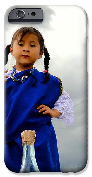 Christmas Eve iPhone Cases - Cuenca Kids 554 iPhone Case by Al Bourassa