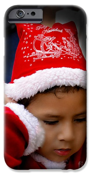 Christmas Eve iPhone Cases - Cuenca Kids 569 iPhone Case by Al Bourassa