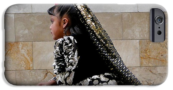 Innocence iPhone Cases - Cuenca Kids 577 Painting iPhone Case by Al Bourassa