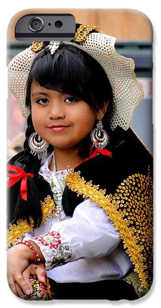 Innocence iPhone Cases - Cuenca Kids 583 iPhone Case by Al Bourassa