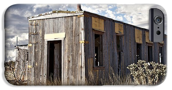Cabin Window iPhone Cases - Cuervo New Mexico  iPhone Case by Lee Craig